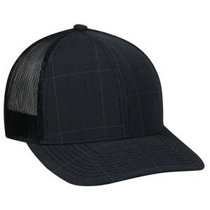 Structured Mesh Back Cap with Hook/Loop Closure