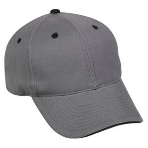 6 Panel Structured Cap with Contrasting Accent