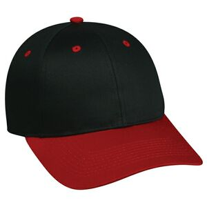 6 Panel Structured Mid Profile Cap with Plastic Snap