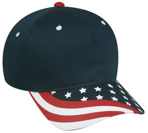 5 Panel Screen Printed American Flag Cap