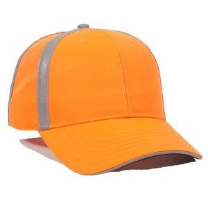 Hi-Vis Polyester w/Reflective Accents Line of Duty Cap