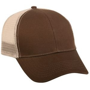 Structured Mesh Back Cap with Plastic Snap Closure