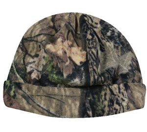 6 Seam Reversible Fleece Camo Cap