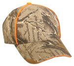 Custom Advantage Classic Camo Brown Cap with Blaze Orange Accents