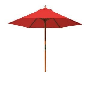 7' Round Wood Umbrella with 6 Ribs, Blank
