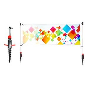 "96""W x 42""H Twist X™ Banner System, Replacement Graphic"