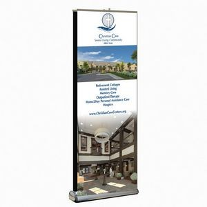 "Double-Sided Premium Retractable Banner Replacement Graphic, Vinyl (33"" x 80"")"