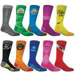 Custom Adult Athletic Crew Sock- Full Color Exterior