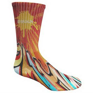 Youth Athletic Crew Sock- Full Color Exterior
