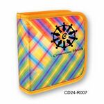 Custom 3D Lenticular CD Wallet/ Case with Yellow Plaid - 24 CD's (Stock)