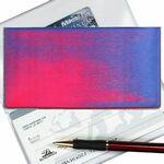 Custom Pink/Purple/Blue 3D Lenticular Checkbook Cover (Stock)
