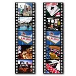 Custom PET Bookmark w/ 3D Lenticular Images of Various Las Vegas Scenes (Blank)