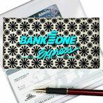 Custom White Stars 3D Lenticular Checkbook Cover (Stock)