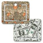 Custom Paper Clip w/ 3D Lenticular Image of Dollars and Cents (Blank)