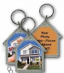 Custom 3D Lenticular Acrylic Key Chain (House)