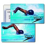 Custom Luggage Tag - 3D Lenticular Olympic Swimmer Stock Image (Imprinted)