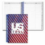 Custom Address Book/ Lenticular USA Flag Flip Effect (Imprinted)