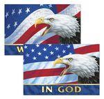 Custom 3D Lenticular Sticker / Patriotic Images with Text