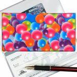 Custom 3D Lenticular Checkbook Cover (Multi-Color Balls)