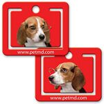 Custom Paper Clip w/ 3D Lenticular Image of a Beagle Wearing Glasses (Imprinted)