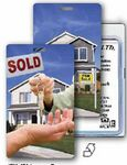 Custom Luggage Tag - 3D Lenticular Real Estate/ Flip Key Stock Image (Blank)