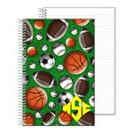 Custom Stock Notebook with Sports 3D Lenticular Depth Effect - 6.5