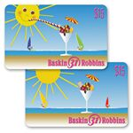 Custom 3D Lenticular Gift Card w/ Flip Sun and Sundae Animation (Imprinted)