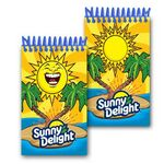 Custom 3D Lenticular Mini Notebook / Stock Animated Sunshine (Imprinted)