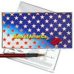 Custom Patriotic Stars 3D Lenticular Checkbook Cover (Stock)