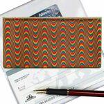Custom 3D Lenticular Checkbook Cover (Wave Pattern)