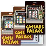Custom Luggage Tag - 3D Lenticular Slot Machine/ Casino Stock Image - Vertical (Imprinted)