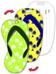 Custom Luggage Tag / Flip-Flop Shape with Palm Trees Lenticular Design (Blank)