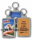 Custom 3D Lenticular Acrylic Key Chain (Rectangle w/ House)