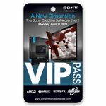 Custom Admission VIP Pass/ Custom Four Color Lenticular Images and Effects