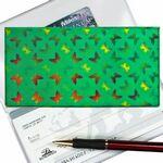 Custom Green 3D Lenticular Checkbook Cover (Butterflies)