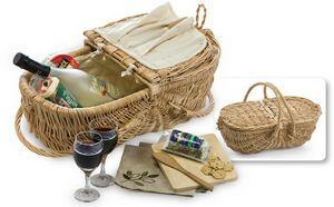 Picnic Plus Wine & Cheese Eco Picnic Basket