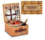 Custom Baxter 2 Person Handmade Picnic Basket
