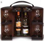 Custom Daventry Travel Wine Bottle Case