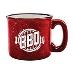 Custom 15 Oz. Campfire Mugs - White In-Red-Out