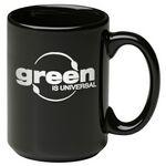 Custom 15 Oz. Jumbo Ceramic Mug - Black