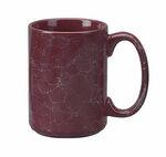 Custom 15 Oz. Marble Jumbo Ceramic Coffee Mug - Maroon