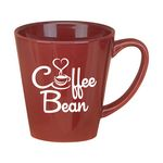 Custom 11 Oz. Cafe Latte Taper Mug - Burgundy