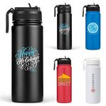 Custom 64 Oz. The Biere 24 HOURS Matted Finish Insulated Stainless Steel Bottle