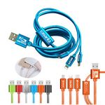 Custom The Virgo 3 in 1 Charging Cable Android, iPhone, Type C adapters