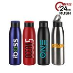Custom 40 oz. Matted 24 HOURS Insulated Stainless Steel Bottle
