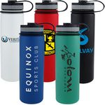 Custom 24 oz. Matted Vacuum Insulated Stainless Steel Bottle
