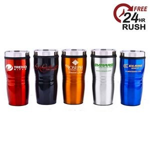 16 Oz. Wavy Travel Tumbler