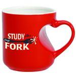 Custom 12 Oz. Heart Handle Mug