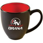 Custom 15 Oz. Two-Tone Matted Bistro Mug