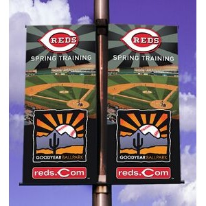 Two-Sided Pole Banner 2'x5' - Vinyl